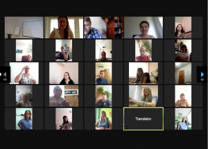Screenshot of participants of the 2-day Transnational Event